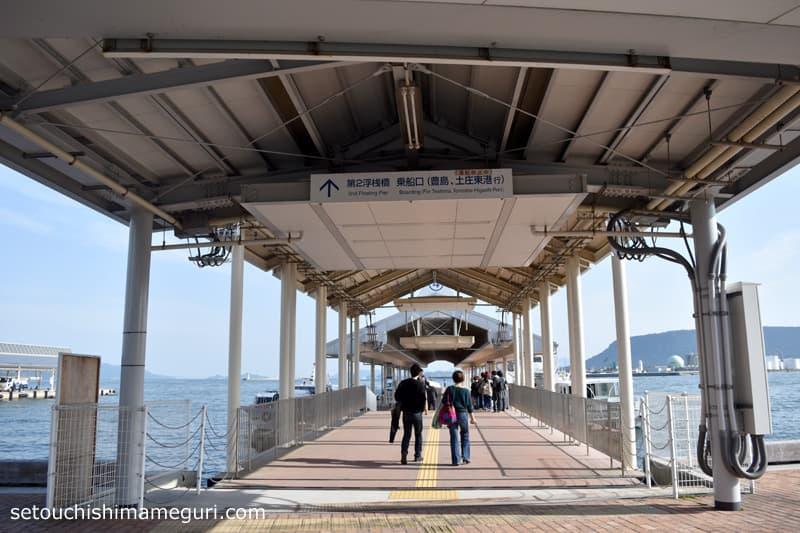 高松港の第2桟橋
