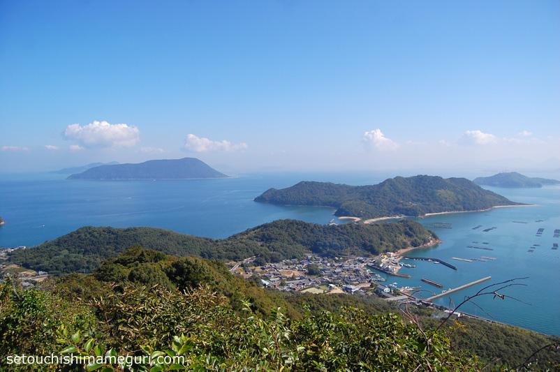 粟島 城山山頂からの眺め