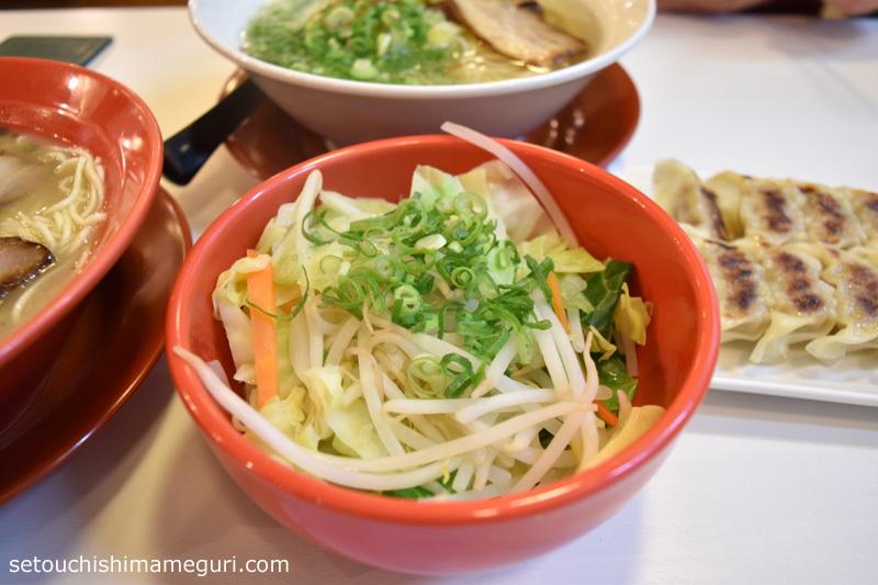 小豆島ラーメンHISHIO トッピングの野菜盛