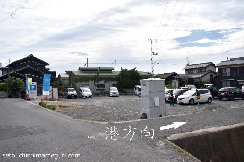 """""""岡山市営 宝伝駐車場から宝伝港へ"""