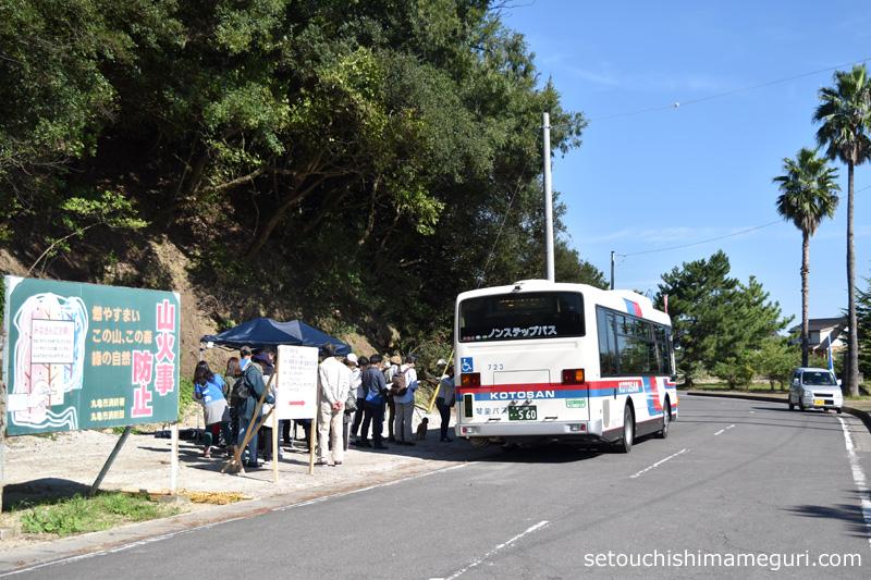 本島 瀬戸内国際芸術祭2016で導入されたシャトルバス