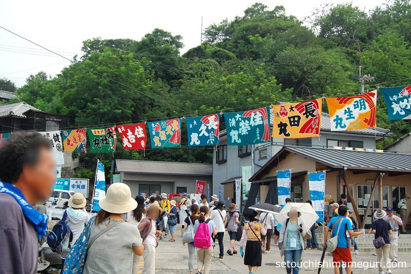 瀬戸内国際芸術祭2013 伊吹島の大漁旗