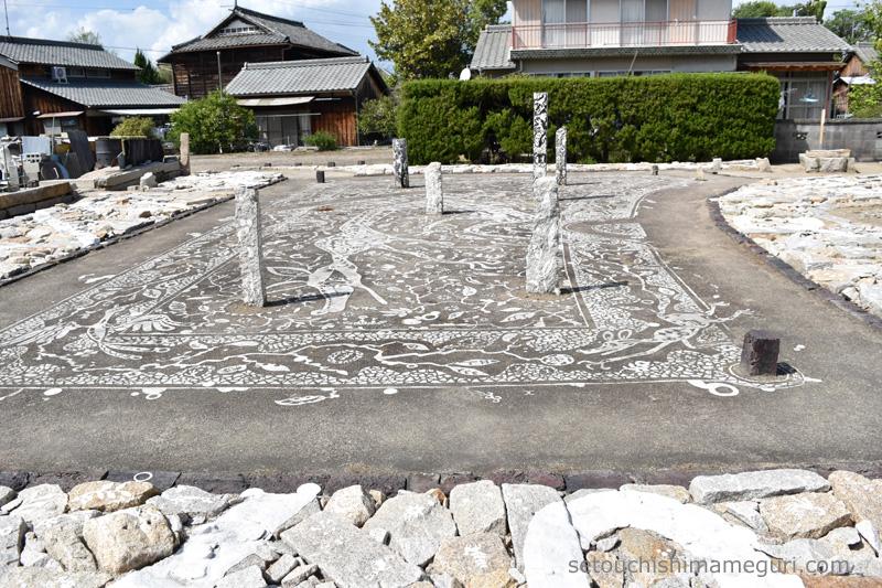 犬島 家プロジェクト【石職人の家跡/太古の声を聴くように、昨日の声を聴く】淺井裕介
