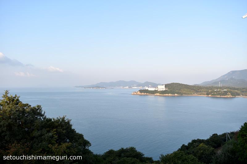 国民宿舎 小豆島 公共の宿ふるさと荘 駐車場からの眺め