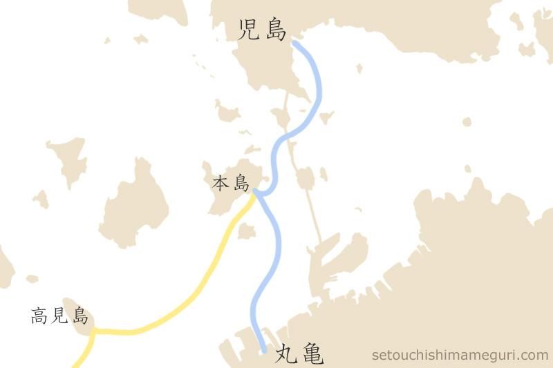 本島への船の航路