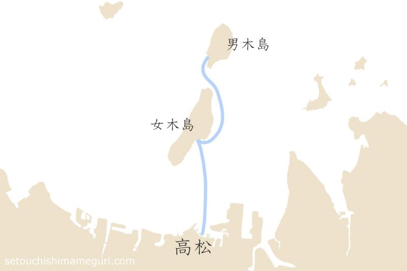 高松港・女木島・男木島の航路