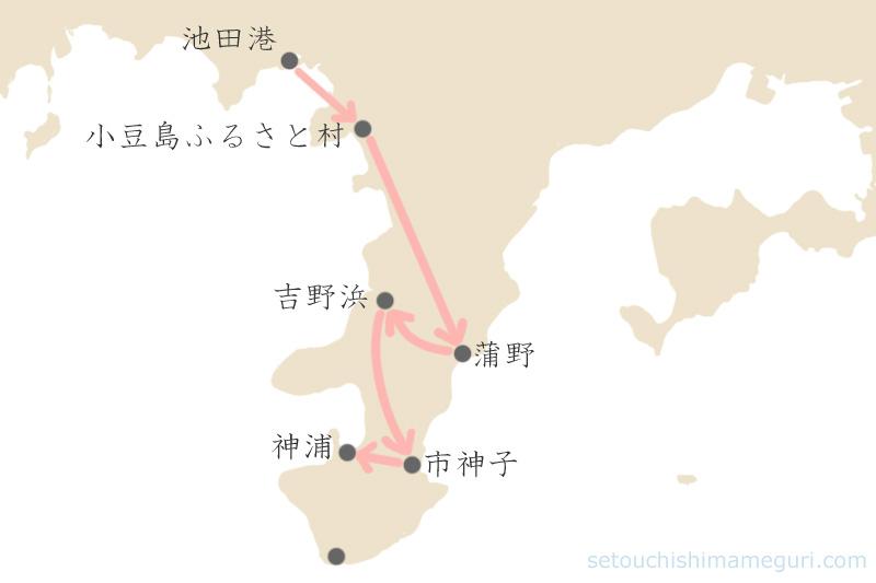 小豆島 三都半島の作品展示場所(瀬戸内国際芸術祭2016)
