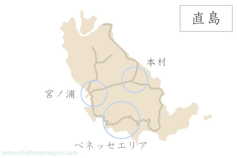 直島の地図