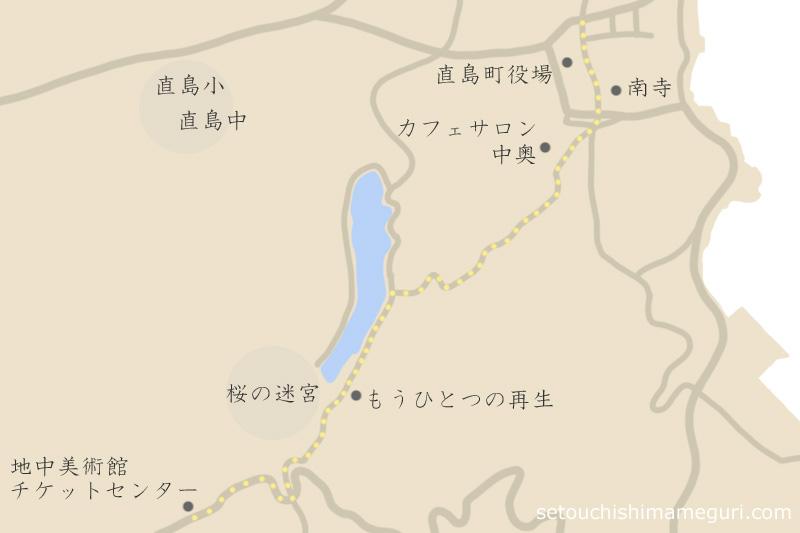 本村から地中美術館へ