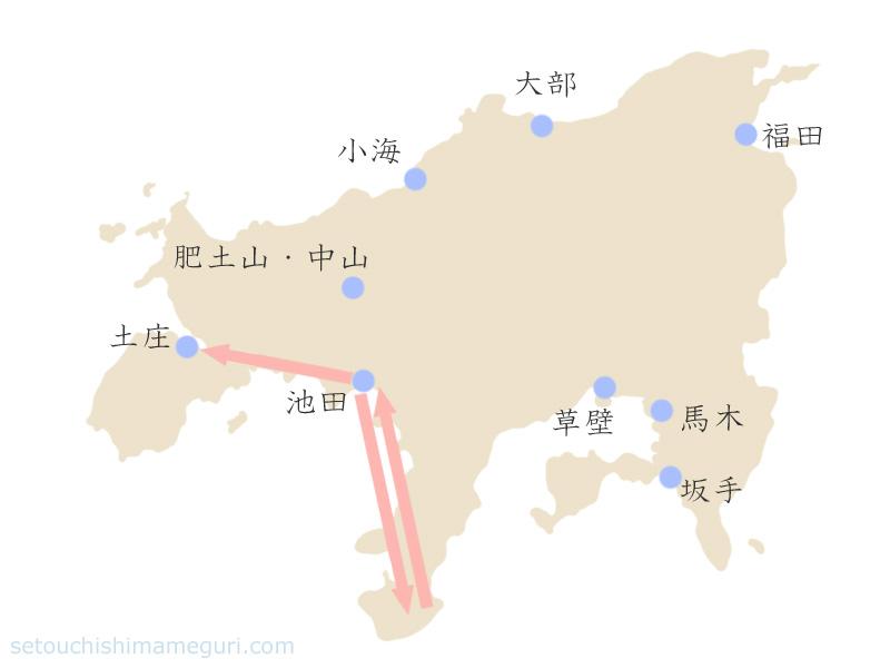 瀬戸内国際芸術祭2013 小豆島 三都半島の作品鑑賞マップ