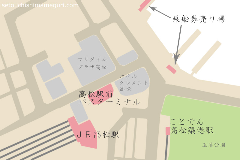 高松港周辺地図