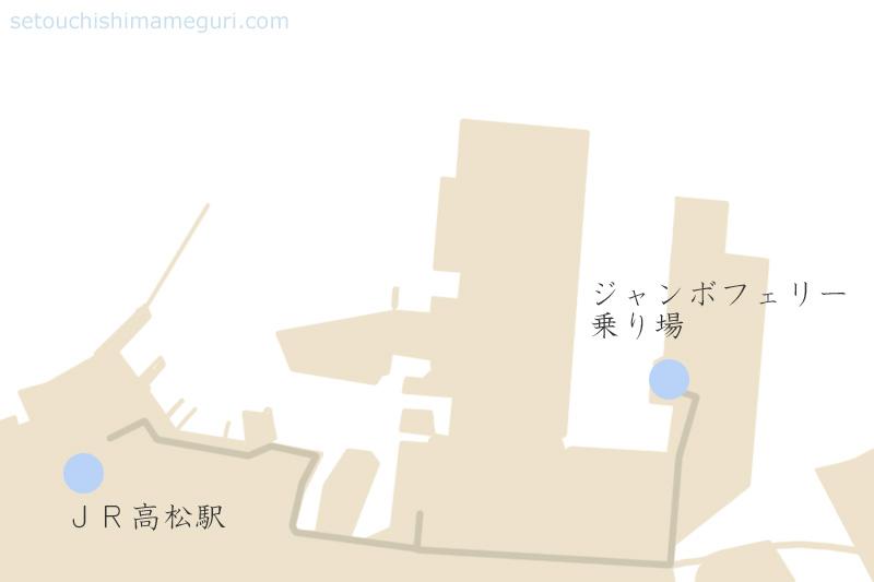 高松東港と高松港