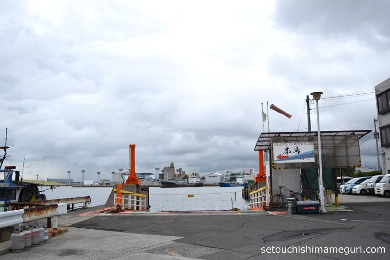 丸亀港 本島行きフェリー乗り場