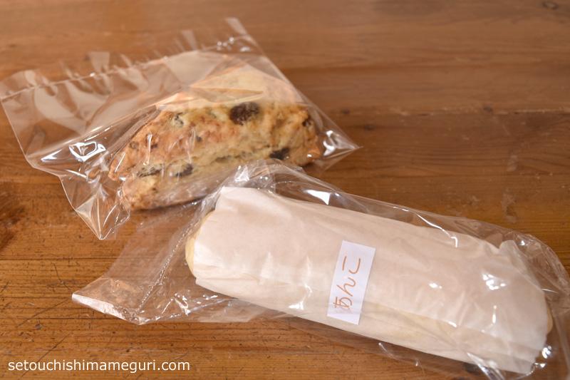 森國ベーカリーで買ったパンとスコーン