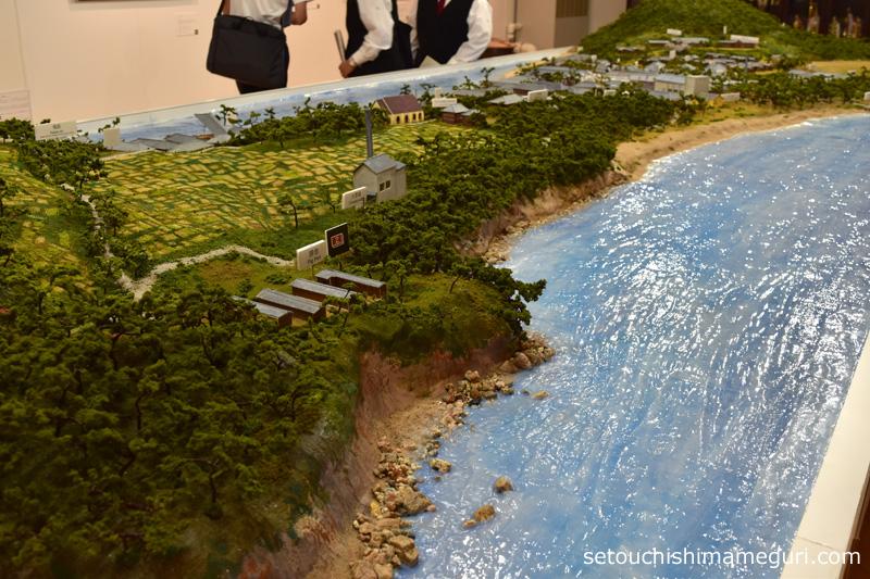 大島 社会交流会館のジオラマ展示