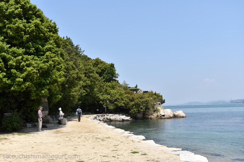 沙弥島 ナカンダ浜からその先へ