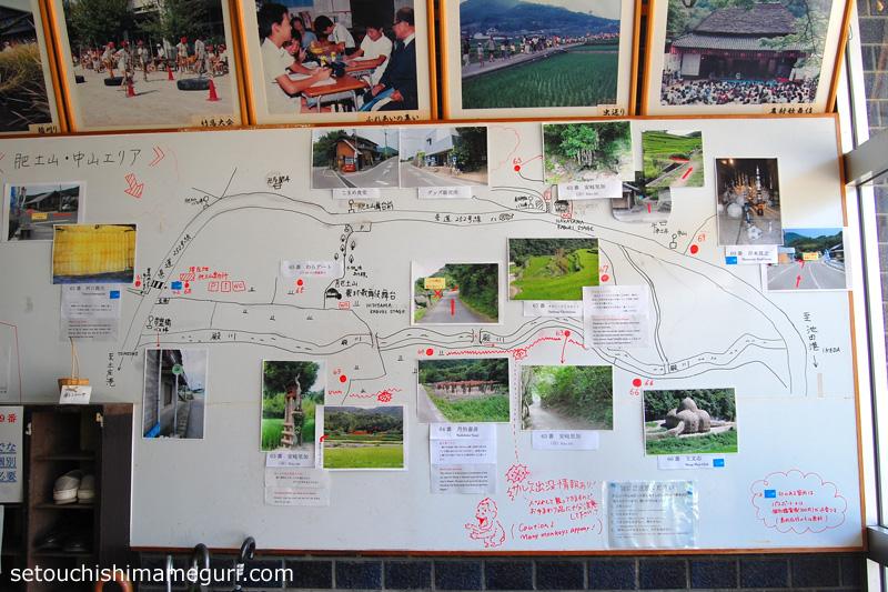 小豆島 旧大鐸小学校にあった周辺案内図