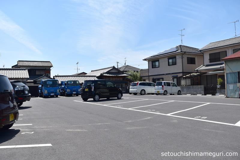 小豆島 タコのまくらの駐車場