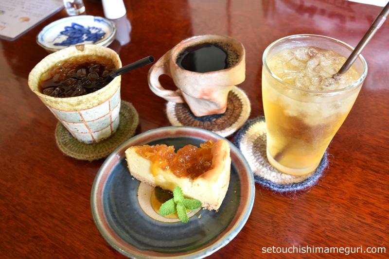 犬島 uki cafe(ウキカフェ)のチーズケーキ