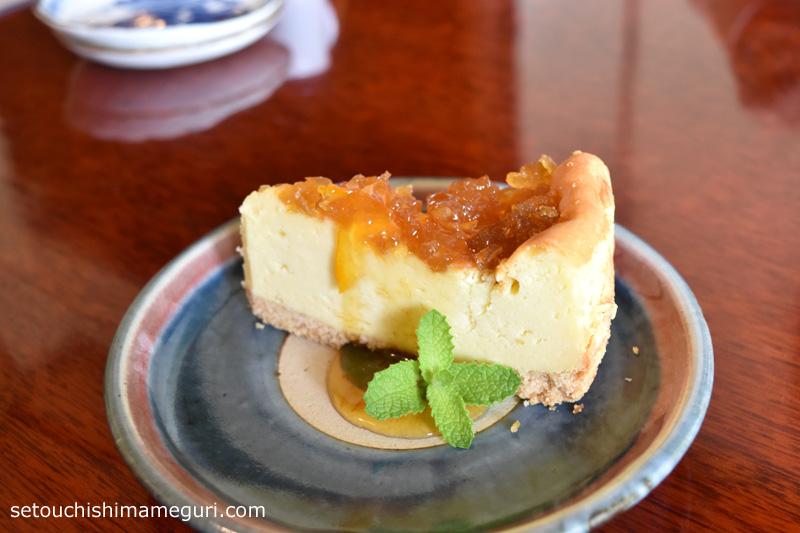 犬島 uki cafe(ウキカフェ) のチーズケーキ